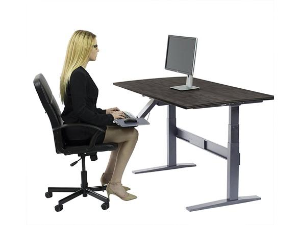 Uncaged ergonomics electric adjustable standing desk for Motorized adjustable standing desk