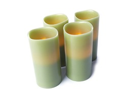 3x6 LED Pillar Candle Celery-4-Pack