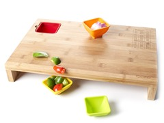 Core Bamboo Prep Station with Bowls