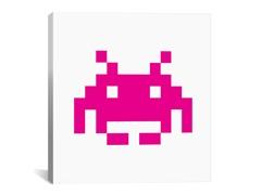 Pink Invader 18x18 Thin