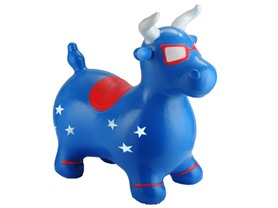 Blue Patriotic Benny the Jumping Bull