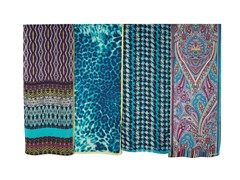 4-Pack Polyester Scarves, Teal