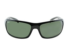 Rectangle Wrap Sunglasses, Black