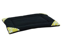 Fleece Black 25x17 Pet Mat w/Sunflowers