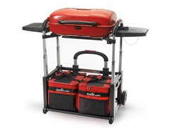 Portable Grill and Cart Combo  - Red