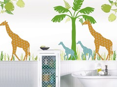 Giraffe Group Wall Decals