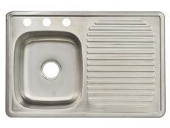 Top Mount Kitchen Sink, Stainless Steel