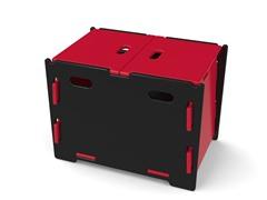 Red & Black Kid's Storage Bin