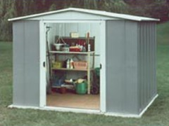 6' x 6' Steel Storage Shed
