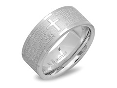 Men's Ring w/ English Prayer Accent