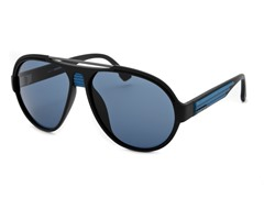 Unisex Sunglasses, Matte Black/Blue
