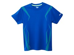 Boys Screened Athletic Tee - Surf Blue