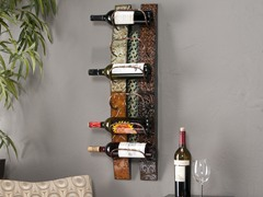 Adriano 6-Bottle Wall Mount Wine Storage
