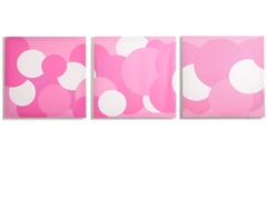 Rose Canvas Print: Pink Bubbles- Set of 3