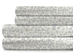 350TC Sheet Set-Mineral Gray Leopard-5 Sizes