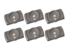 Mr. Beams LED Slim Light, 6-Pack, Brown