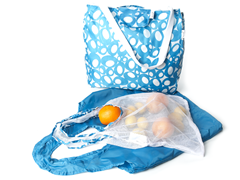 Good Kit 3 Grocery Bags - Blueberry