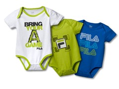 "FILA ""Game"" Bodysuit 3-Pk (0-6M)"