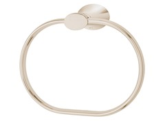 Caspian Towel Ring, Polished Nickel