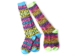 Neon Animal Knee Socks (2 Pair)