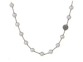 Wendy Brigode Crystal Ball Necklace