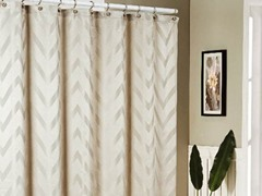 Behrakis Jacquard Shower Curtain - Taupe