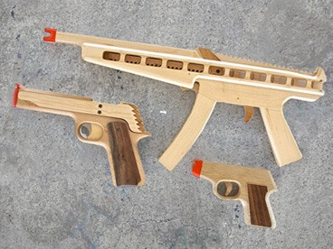 Rubber Band Guns for Dad!