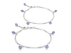 Tanzanite Bracelet & Anklet Set