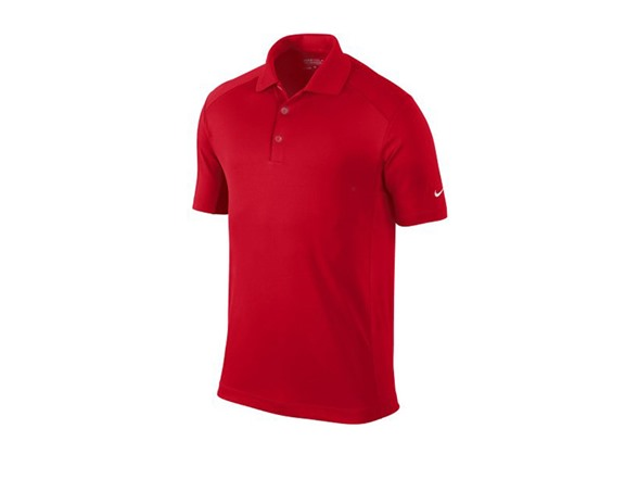 Nike dri fit victory polo red s l for Nike dri fit victory golf shirts