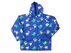 Blue Dinosaurs Rain Coat