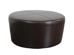 Barcleina Round Leather Ottoman
