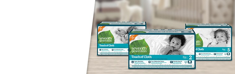 Seventh Generation Diapers (Size Newborn - Size 3)
