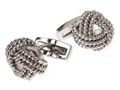 Polished SS Knot Cufflinks