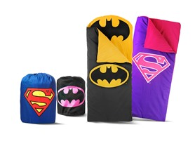 Superman/Batman Sleeping Bag Your Choice