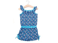 Blue Hearts Knit Romper (12M-24M)