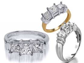 Certified Diamond Rings, 1.0 - 2.0 cttw