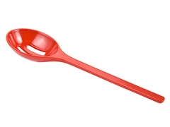 "Zak Designs 9"" Hostess Red Slotted Spoon"