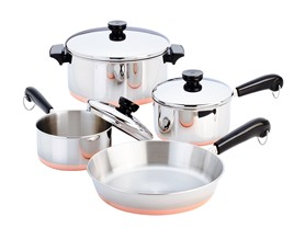 Revere® Copper Clad™ 7-Pc Cookware Set