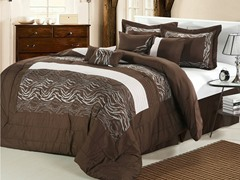 Zebra 8Pc Set-Brown-2 Sizes