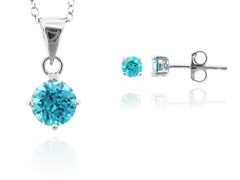 SS Mint Earring & Pendant Set