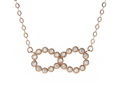 18kt Rose Gold Plated Infinity Necklace