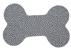 Navy Dog Bone Houndstooth Rug - 3 Sizes