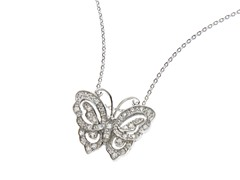 18kt White Gold Plated Butterfly