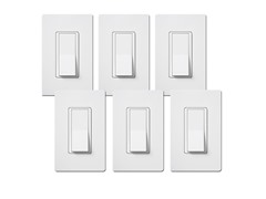 15-Amp Single Pole Switch 6-Pack, White