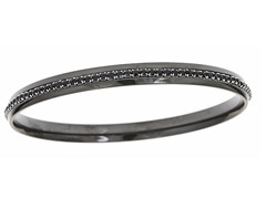 Black Ion Plated Sim. Diamond Eternity Bangle