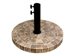 Light Brown Marble Umbrella Base