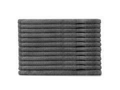 MicroCotton 12pc Washcloth Set-Steel