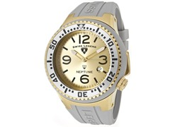 Men's Neptune Watch - Grey/Gold