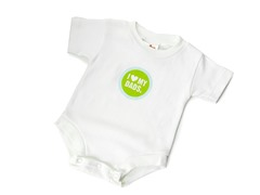 "Wry Baby Bodysuit - ""I Heart My Dads"""