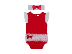 Red & White Bodysuit Set (0-9M)